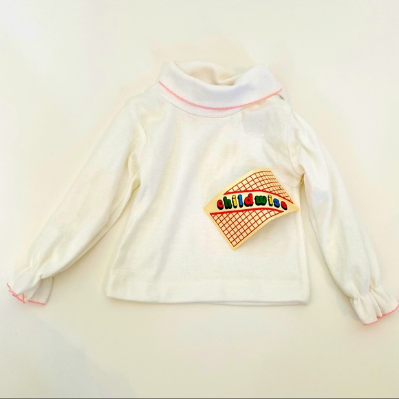 Vintage Deadstock 1970's Baby Blouse 0-3 months